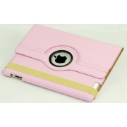 Newest PU leather 360-degree rotating case smart cover stand for ipad2/3/4
